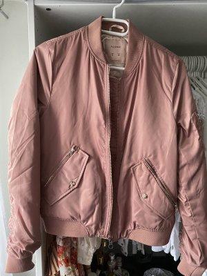 Pull & Bear Bomber Jacket rose-gold-coloured