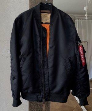 Alpha Industries Blouson aviateur noir-orange
