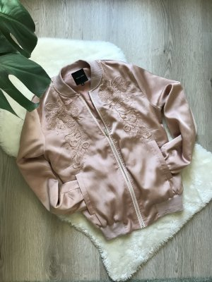 New Look Bomber Jacket rose-gold-coloured-dusky pink polyester