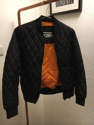 Urban Classics Blouson aviateur noir-orange fluo