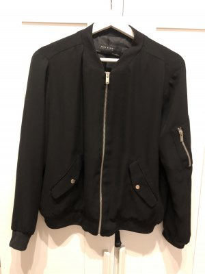 Zara Basic Bomber Jacket black