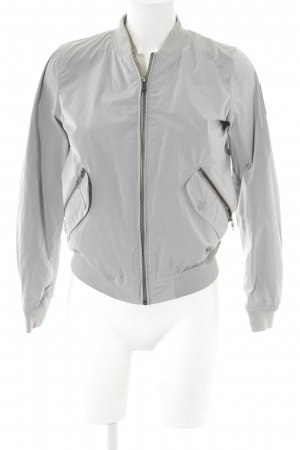 Bomboogie Bomber Jacket pale blue-silver-colored Logo application