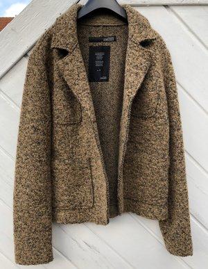 Bomboogie Blazer de lana marrón grisáceo