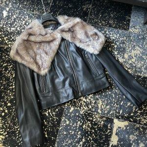 Bomboogie Veste en cuir synthétique noir