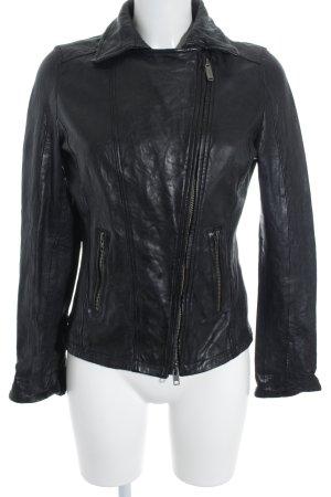 Bomboogie Leather Jacket black classic style