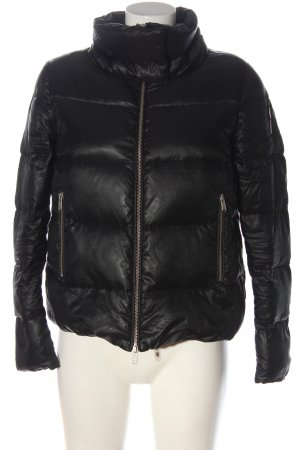 Bomboogie Quilted Jacket black quilting pattern casual look