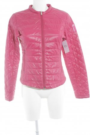 Bomboogie Quilted Jacket magenta quilting pattern casual look