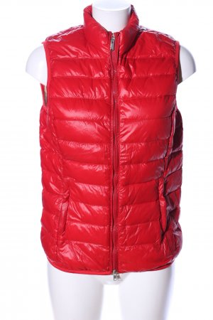 Bomboogie Quilted Gilet red quilting pattern casual look