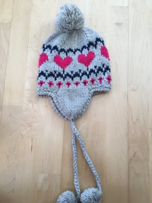 Accessoires Knitted Hat silver-colored-neon pink mixture fibre