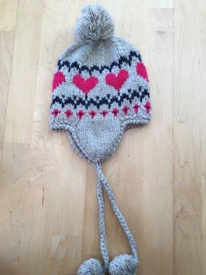 Accessoires Cappello a maglia argento-fucsia neon Tessuto misto