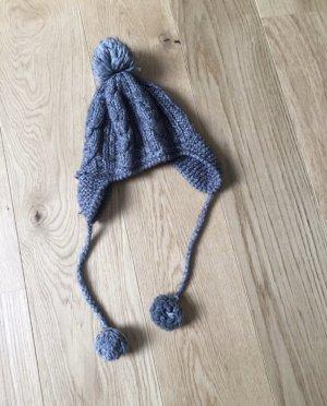 Seeberger Chapeau en tricot gris-argenté