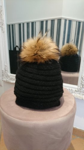 Loevenich Fur Hat black-sand brown