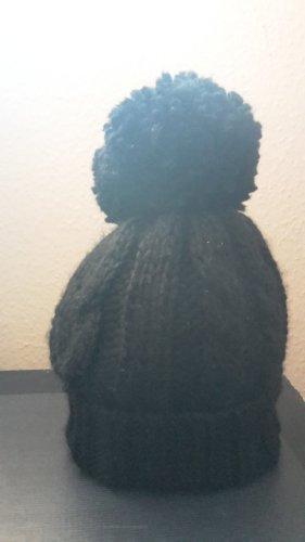 Bommelmütze - Mütze - schwarz