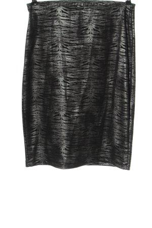 Bon'a Parte Ołówkowa spódnica czarny-srebrny Na całej powierzchni