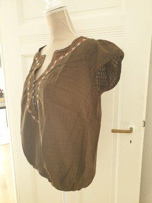 Bon'a Parte Bluzka o kroju koszulki brązowy-brąz Bawełna