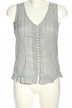 Bon'a Parte Blouse Top blue-white striped pattern casual look