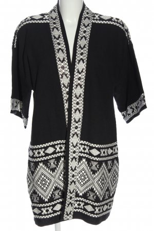 Bon'a Parte Cardigan black-white graphic pattern casual look