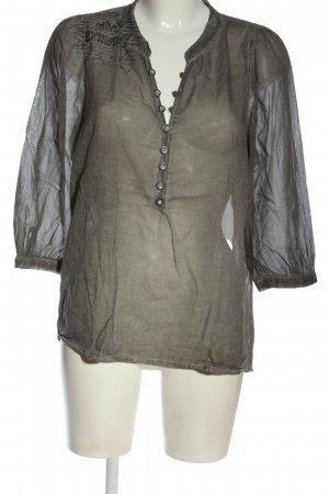 Bon'a Parte Koszulowa bluzka jasnoszary-czarny Wydrukowane logo Elegancki