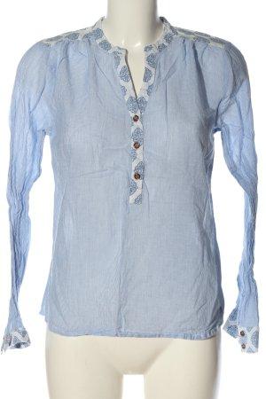 Bon'a Parte Koszulowa bluzka niebieski-biały Wzór w paski W stylu casual