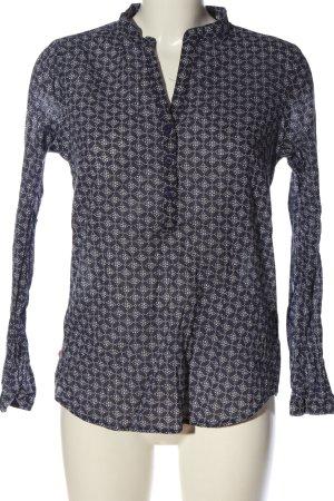 Bon'a Parte Shirt Blouse blue-white allover print casual look