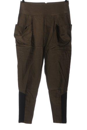 Bon'a Parte Hoge taille broek khaki casual uitstraling