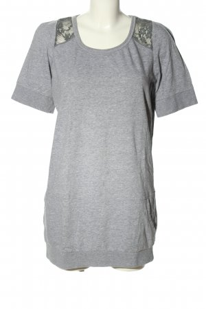 Bon'a Parte Jersey Dress light grey flecked casual look
