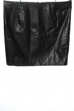 Bon'a Parte Faux Leather Skirt black casual look