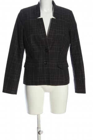 Bon'a Parte Short Blazer black-light grey check pattern casual look