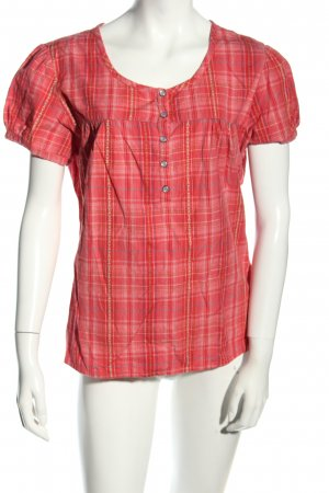 Bon'a Parte Short Sleeved Blouse red-blue allover print casual look