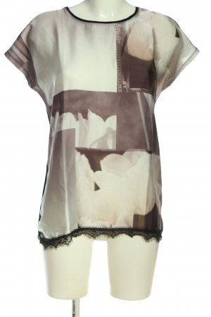 Bon'a Parte Bluzka z krótkim rękawem Abstrakcyjny wzór W stylu casual