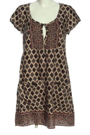 Bon'a Parte Sukienka z krótkim rękawem Na całej powierzchni W stylu casual