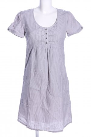 Bon'a Parte Shortsleeve Dress light grey striped pattern casual look