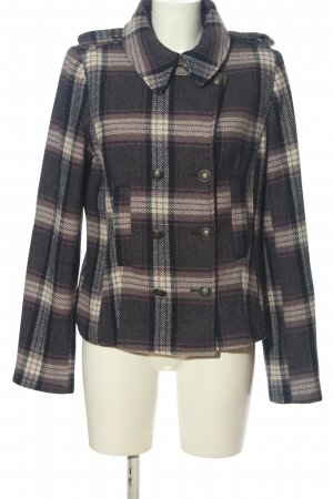 Bon'a Parte Short Coat brown-cream check pattern casual look