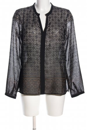 Bon'a Parte Long Sleeve Blouse black-cream allover print casual look