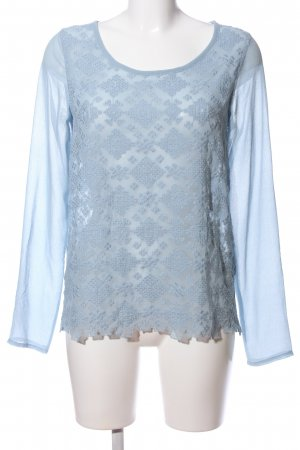 Bon'a Parte Long Sleeve Blouse blue casual look