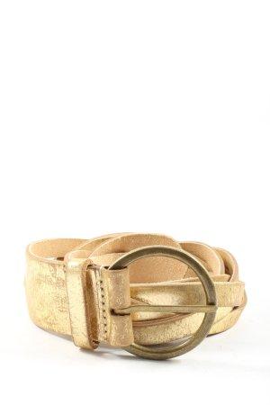 Bon'a Parte Cinturón de cuero de imitación nude-color oro look casual