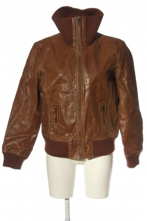 Bon'a Parte Leather Jacket brown casual look