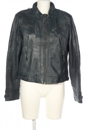 Bon'a Parte Leather Jacket light grey casual look