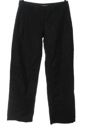 Bon'a Parte Lniane spodnie czarny W stylu casual
