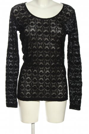 Bon'a Parte Longsleeve black graphic pattern casual look