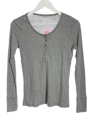 Bon'a Parte Koszulka z długim rękawem jasnoszary Melanżowy W stylu casual