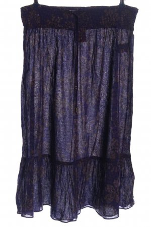 Bon'a Parte Broomstick Skirt lilac abstract pattern casual look
