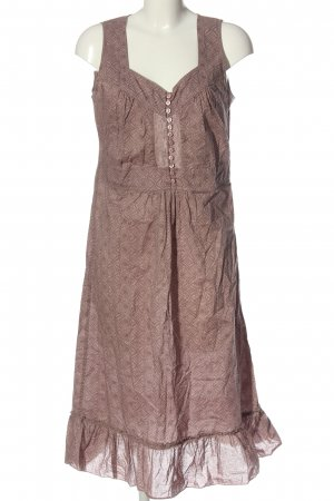 Bon'a Parte Midi Dress pink-brown abstract pattern casual look