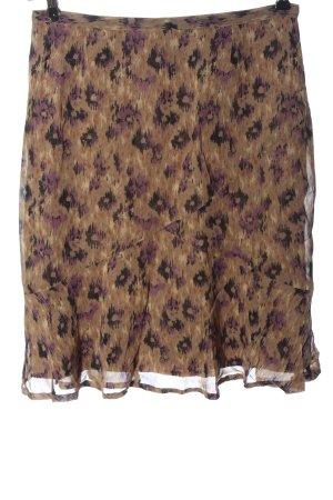 Bon'a Parte Spódnica mini brązowy Abstrakcyjny wzór Elegancki