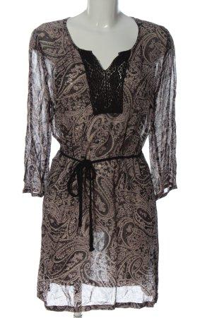 Bon'a Parte Sukienka mini czarny-brązowy Na całej powierzchni W stylu casual
