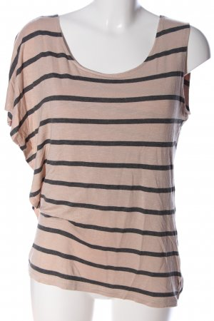 Bon'a Parte Stripe Shirt pink-black allover print casual look