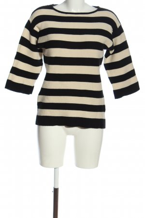 Bon'a Parte Crewneck Sweater cream-black allover print casual look