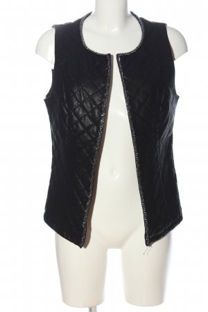 Bon'a Parte Quilted Gilet black quilting pattern casual look