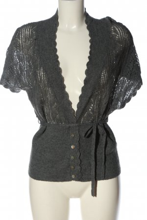 Bon'a Parte Knitted Cardigan light grey flecked casual look