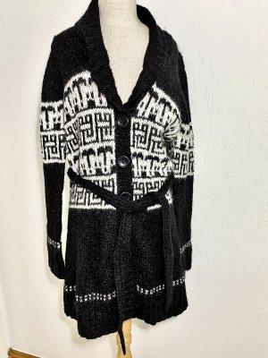 Bon'a Parte Cardigan in maglia nero-bianco sporco